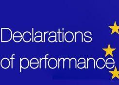Σήμανση CE, δηλώσεις επίδοσης