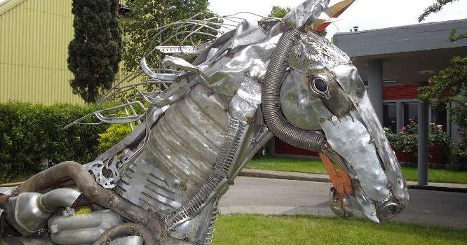 Art from metal recycling.